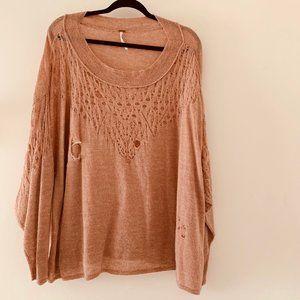 FP oversize alpaca wool distressed sweater